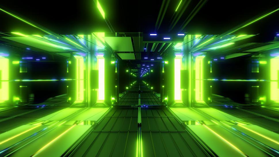Download Free Stock Photo of nice glowing space tunnel background wallpaper 3d rendering