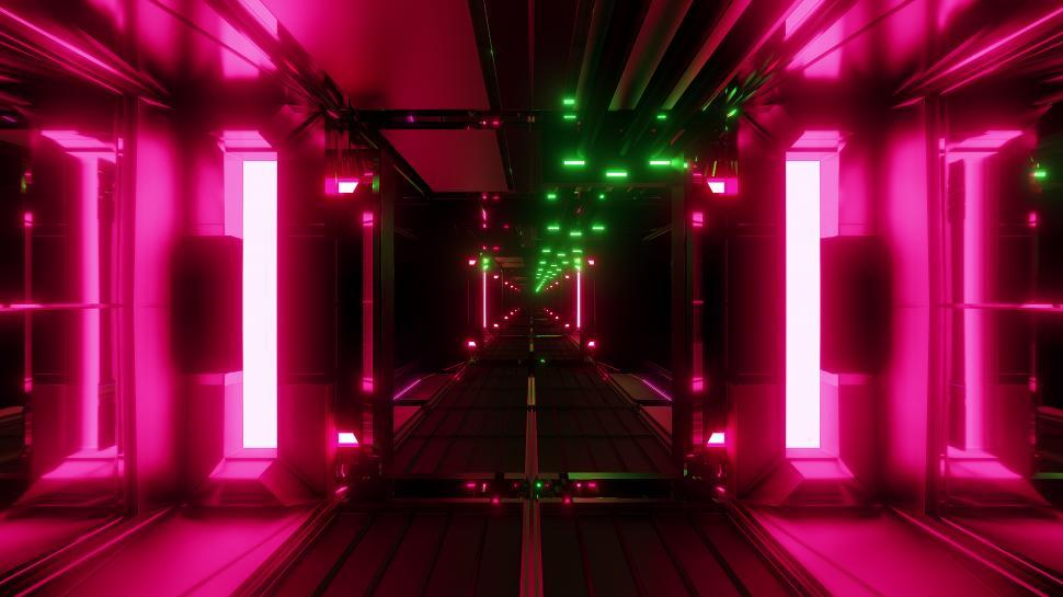 Download Free Stock HD Photo of nice glowing space tunnel background wallpaper 3d rendering Online