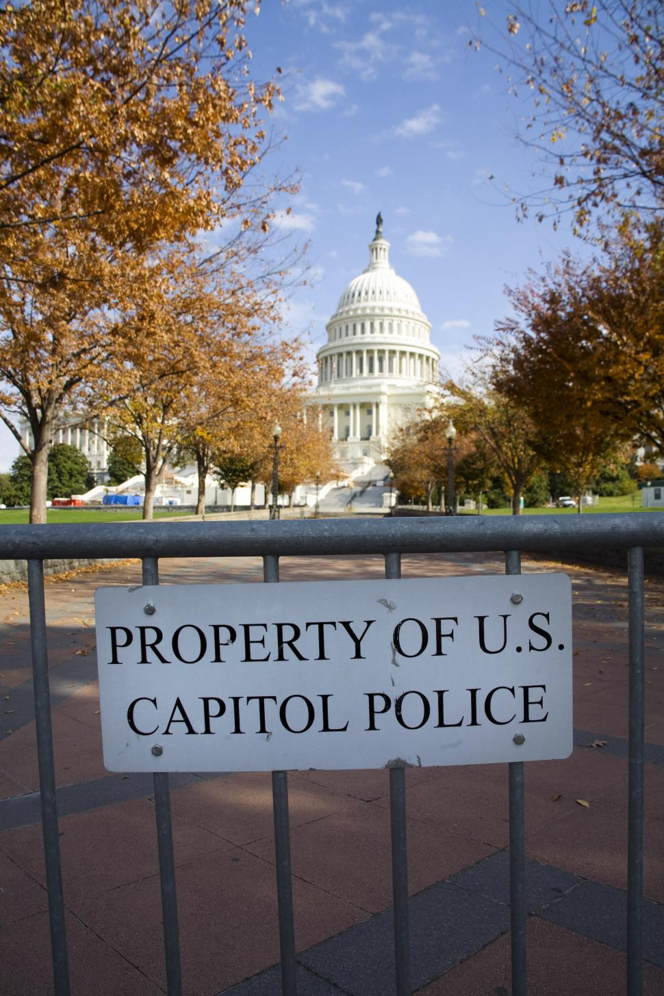 Download Free Stock Photo of US Capitol Police Sign