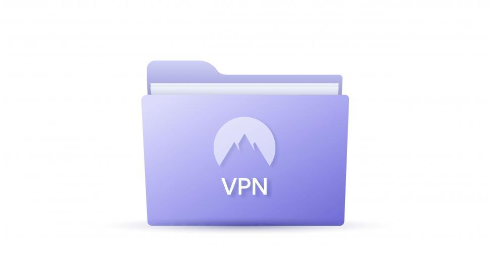 Download Free Stock Photo of Virtual private network VPN - Purple Folder