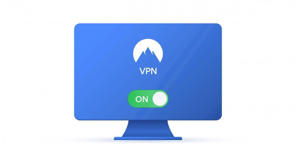 Download Free Stock Photo of Virtual private network VPN - Activated on Desktop