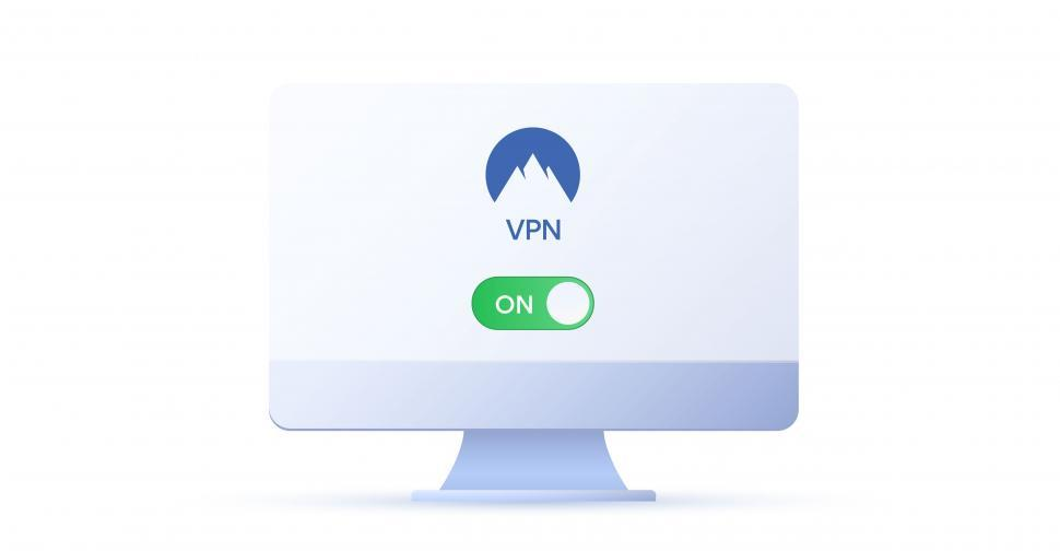 Download Free Stock Photo of Virtual private network VPN - Activated Display