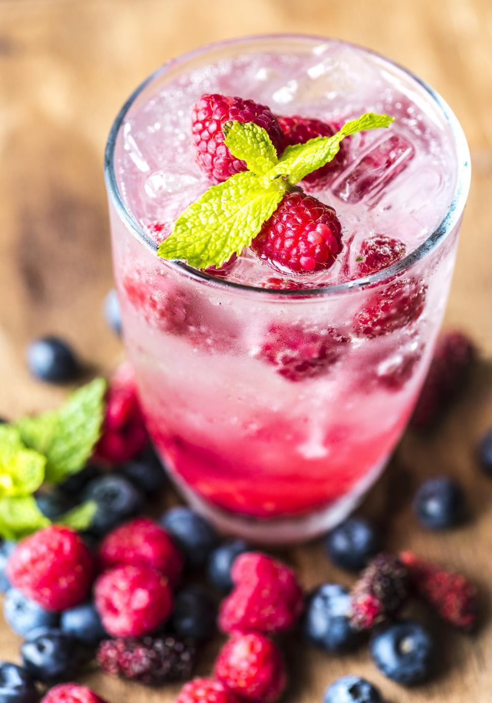 Download Free Stock HD Photo of Close up of chilled beverage raspberry Online
