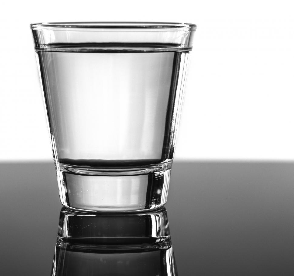 Download Free Stock Photo of A glass of water