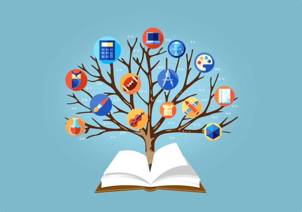Download Free Stock HD Photo of Education Concept - Learning Concept - With Tree of Knowledge  Online