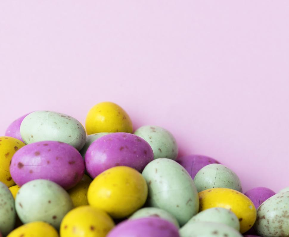 Download Free Stock Photo of Colored candy eggs