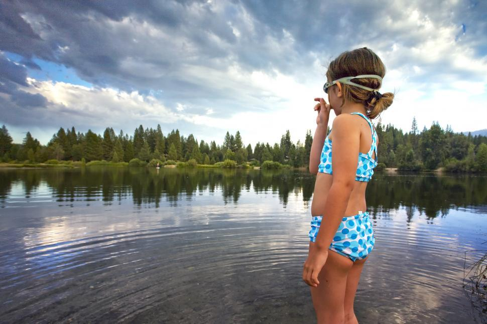 Download Free Stock HD Photo of Little Girl Swimmer Online
