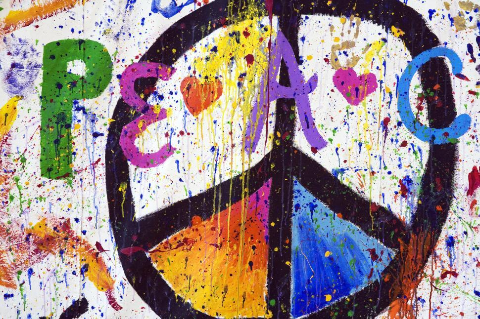 Download Free Stock Photo of Peace Sign Painted
