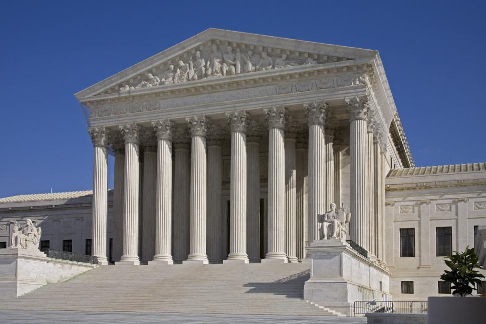 Download Free Stock Photo of US Supreme Court Building
