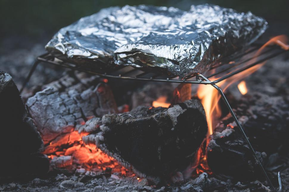 Download Free Stock HD Photo of Dinner on Campfire  Online