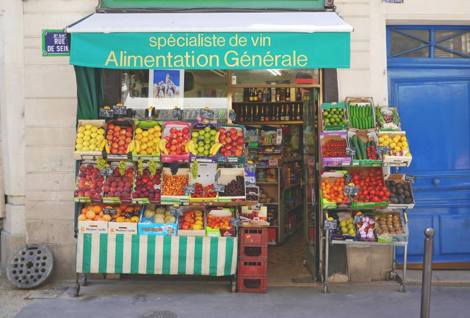 Download Free Stock Photo of Fruit Shop (French) in Paris
