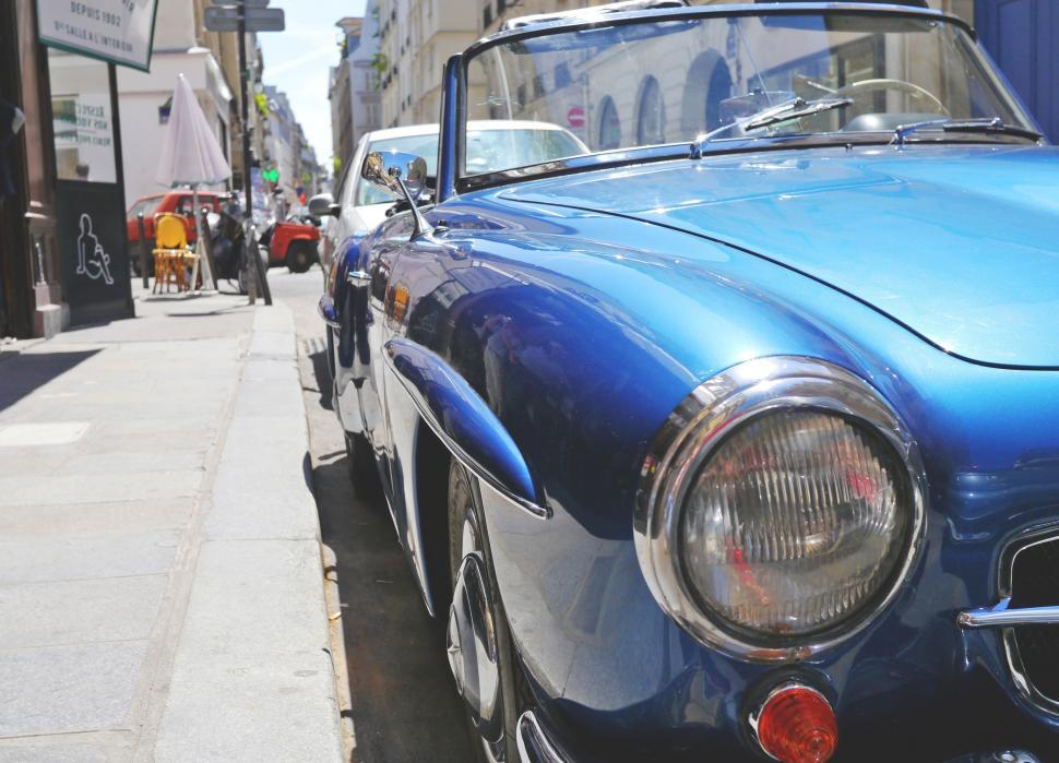 Download Free Stock HD Photo of Vintage Mercedes parked on street in Paris  Online