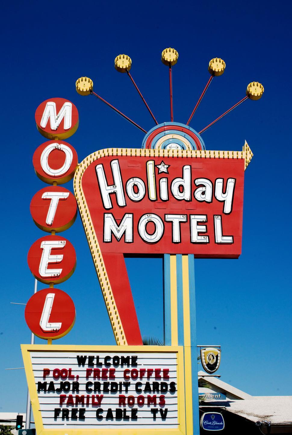 Download Free Stock Photo of Holiday Motel, Las Vegas
