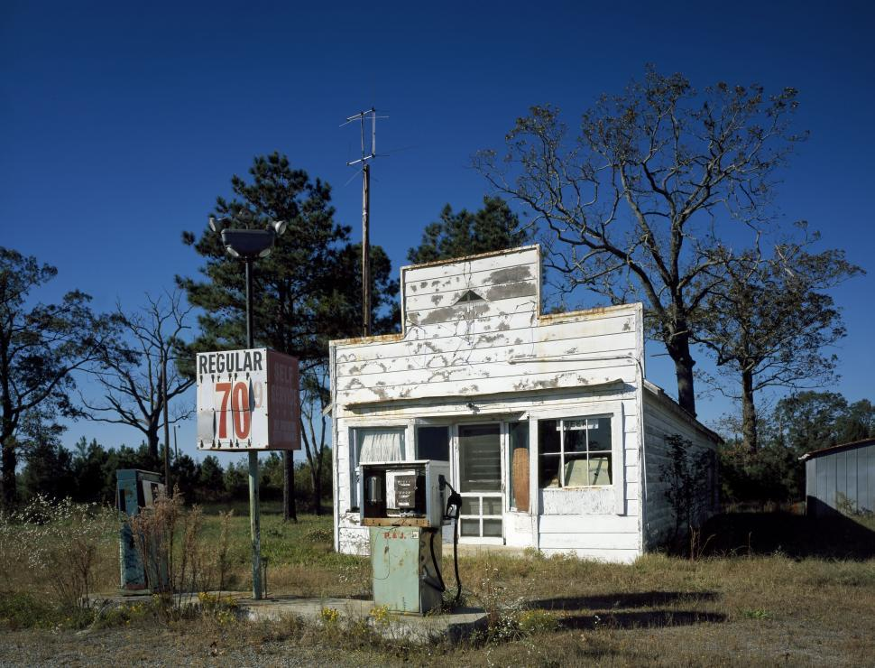 Download Free Stock Photo of Petrol Station - Vintage