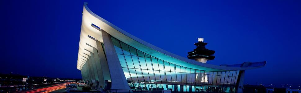 Download Free Stock HD Photo of Dulles International Airport - Night View  Online