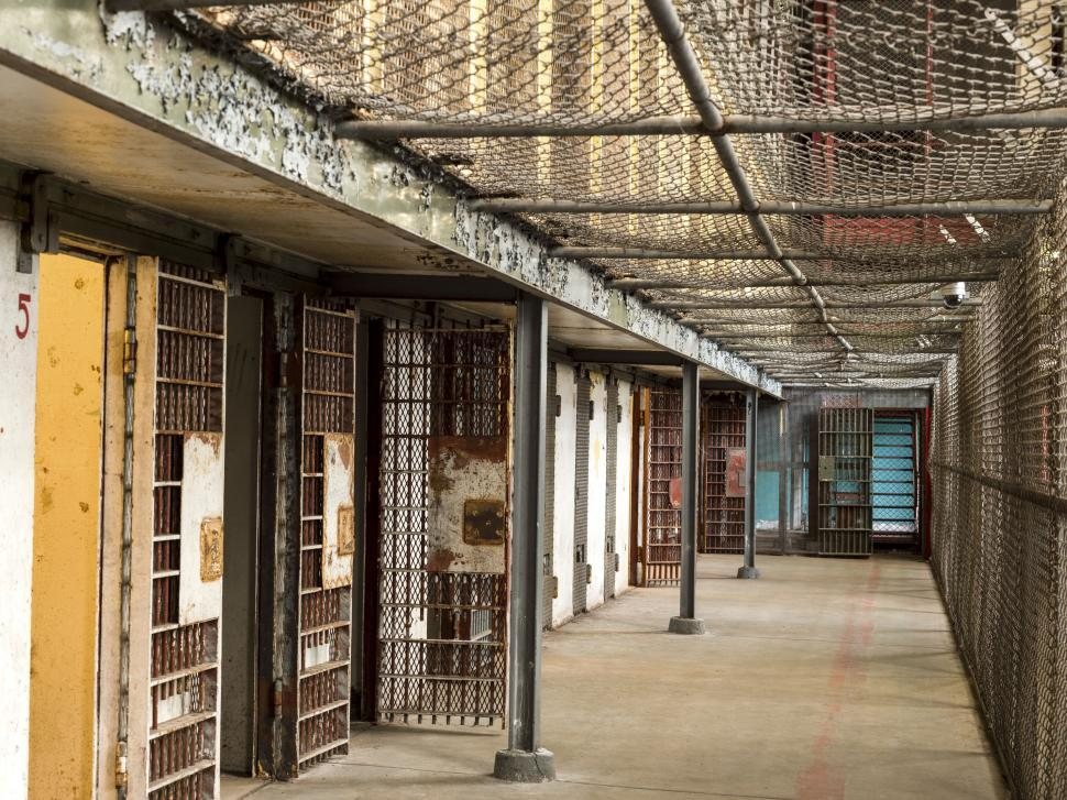 Download Free Stock Photo of Prison interior - No People
