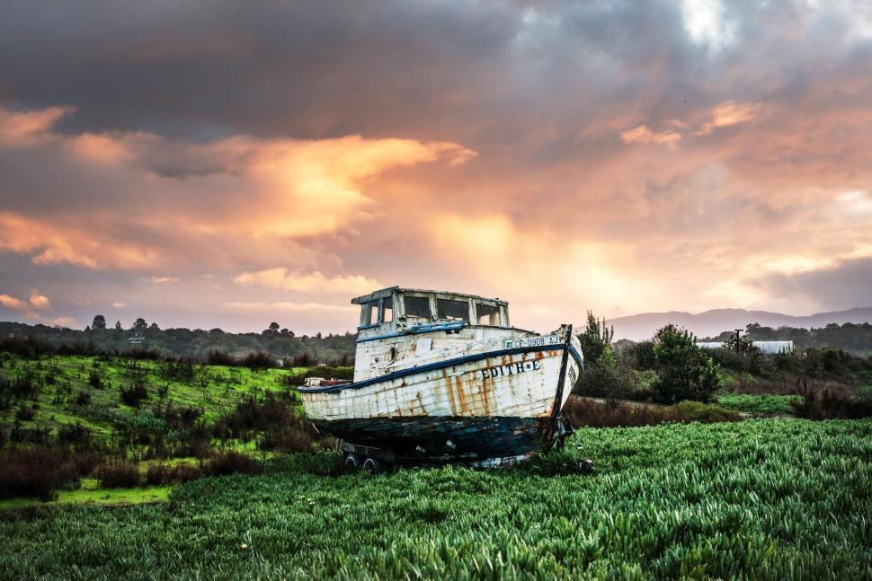 Download Free Stock HD Photo of Abandoned Fishing Boat Online