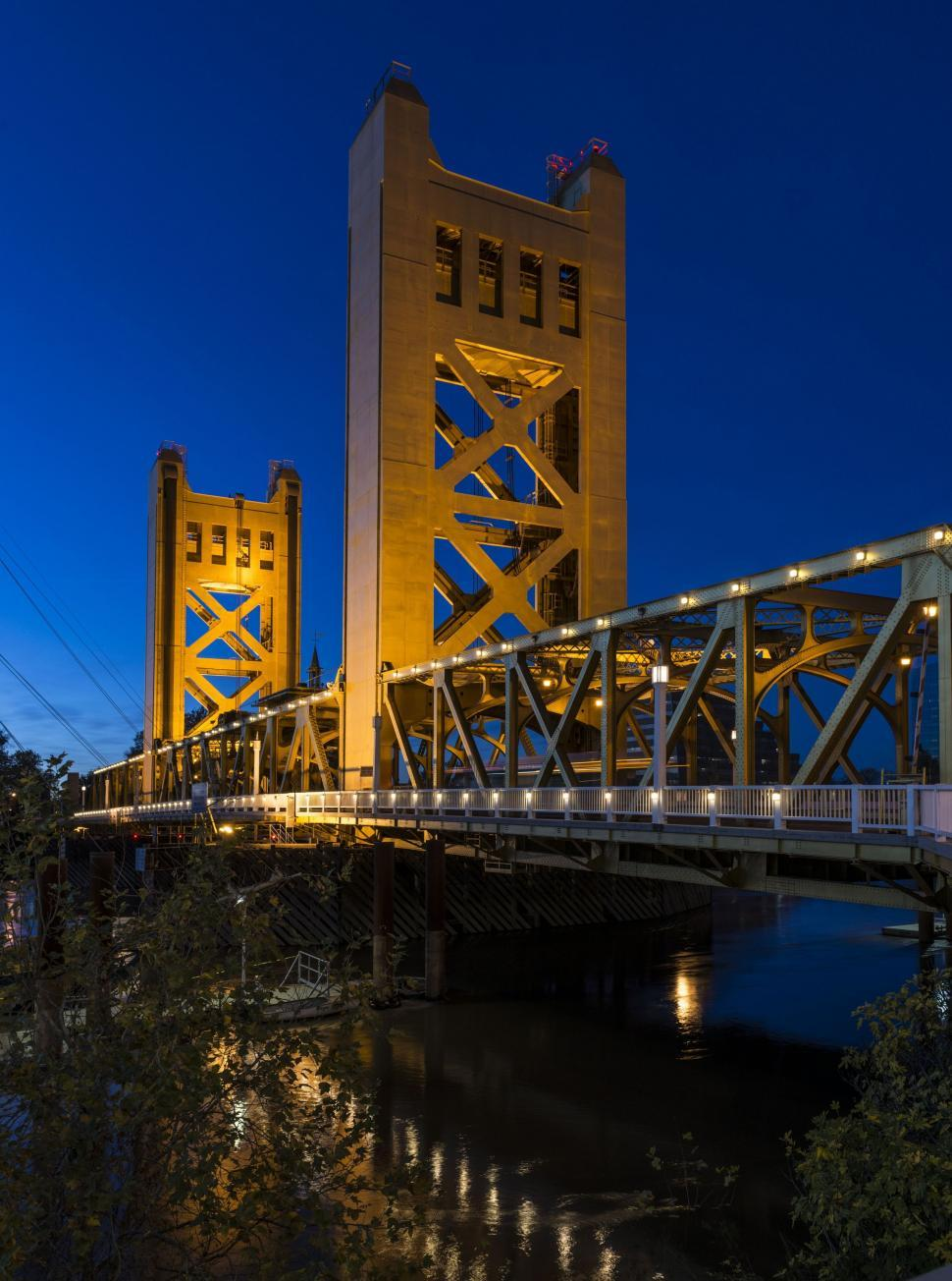 Download Free Stock Photo of Low Angle View of Tower Bridge (California)