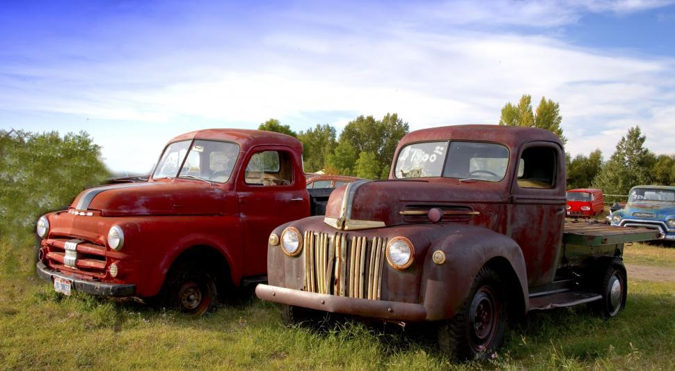 Download Free Stock HD Photo of Vintage Pick Up Trucks  Online