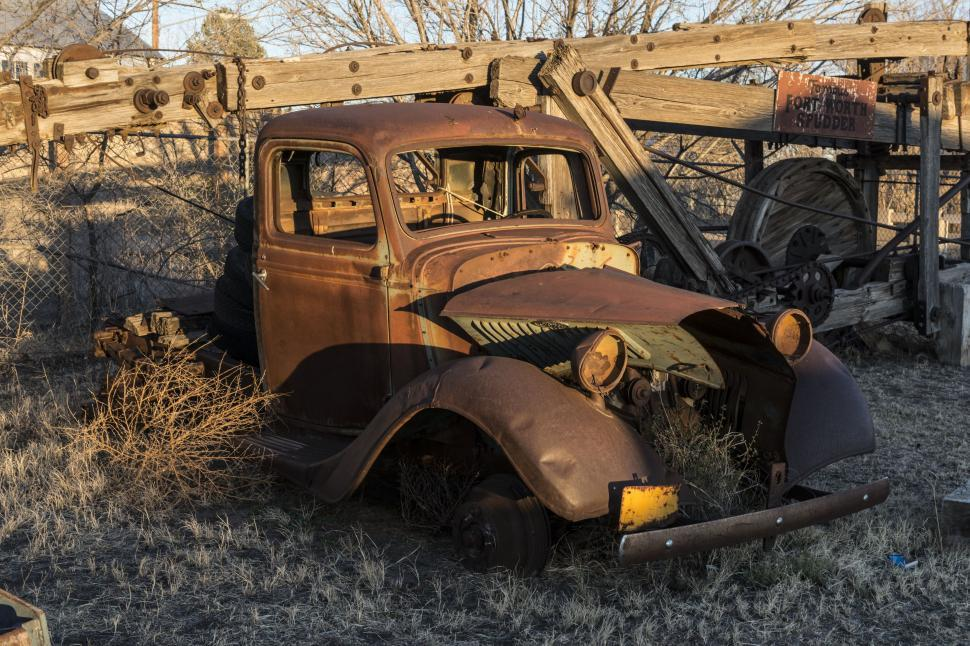 Download Free Stock HD Photo of Old truck in abandoned surroundings  Online
