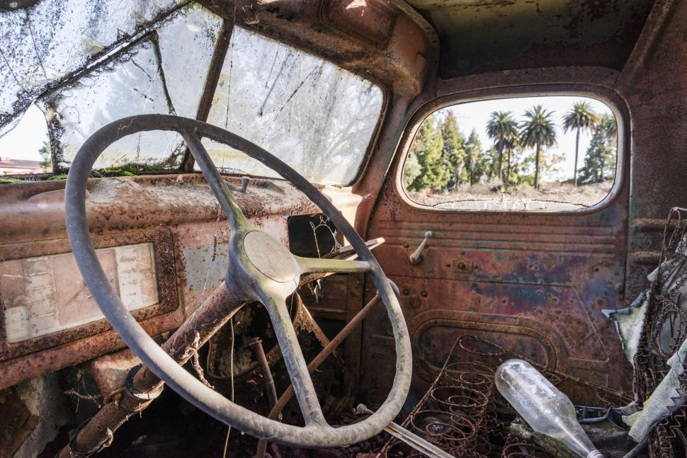 Download Free Stock HD Photo of Steering Wheel - Junkyard  Online