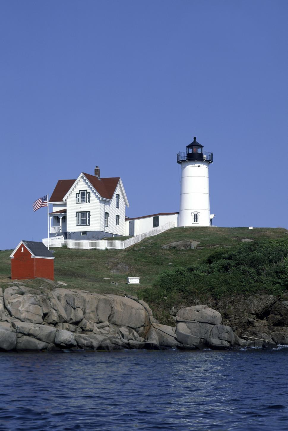 Download Free Stock HD Photo of Nubble Lighthouse - USA  Online