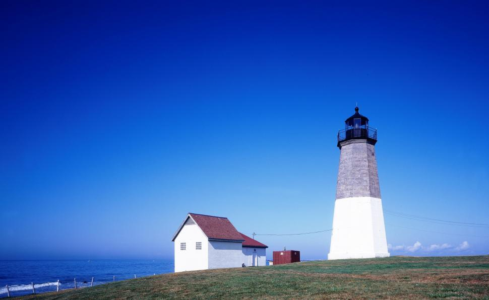 Download Free Stock HD Photo of Point Judith Lighthouse - Rhode Island Online