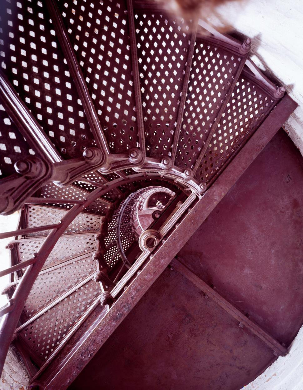 Download Free Stock Photo of Stairs in Lighthouse - Thirty Mile Point Lighthouse
