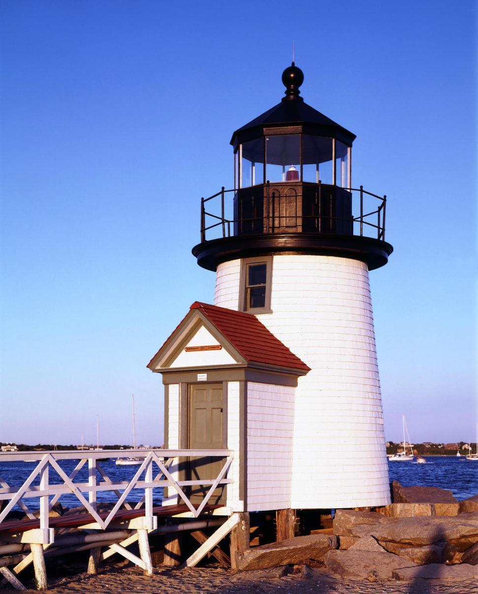 Download Free Stock HD Photo of Nantucket Harbor Range Lights Online