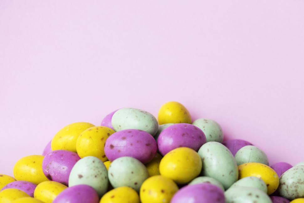 Download Free Stock HD Photo of Colored candy eggs Online
