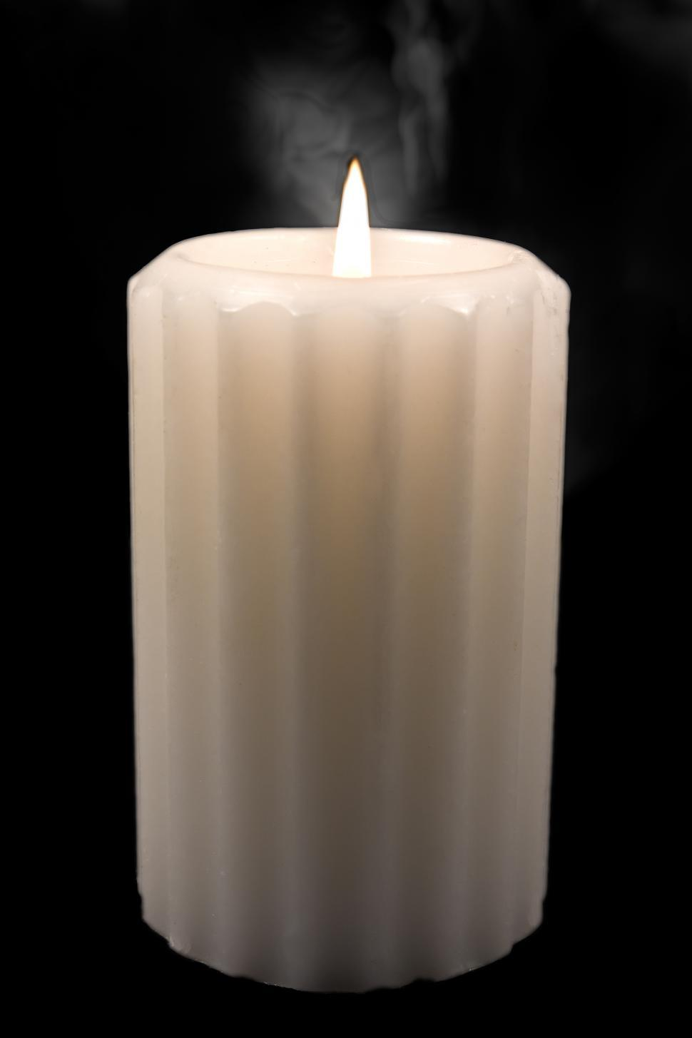Download Free Stock Photo of White Candle