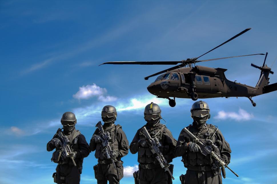 Download Free Stock HD Photo of SWAT Team Members  Online