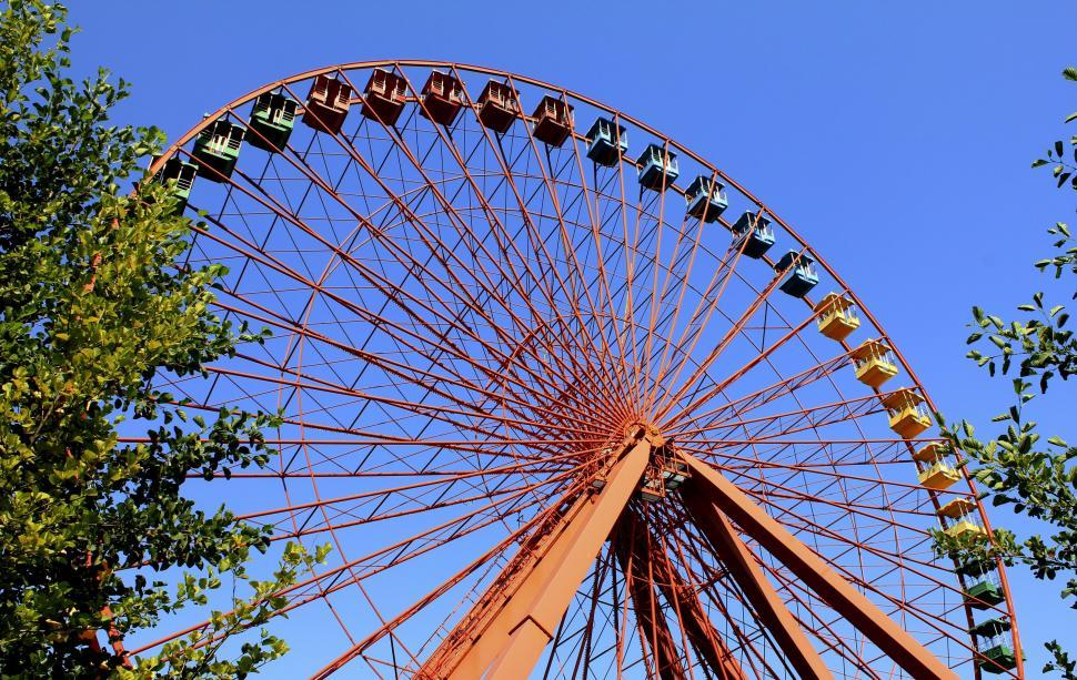 Download Free Stock HD Photo of Ferris Wheel and sky  Online