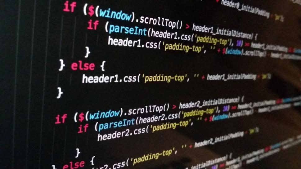 Download Free Stock Photo of Javascript on screen