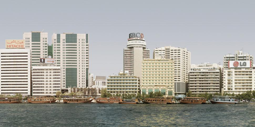 Download Free Stock Photo of Dubai Creek and Buildings