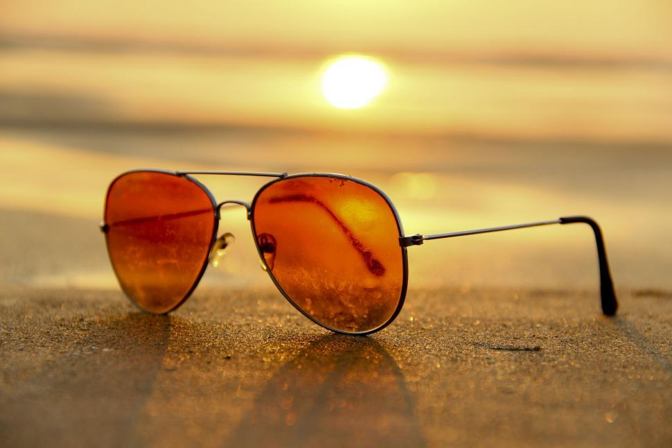 Download Free Stock HD Photo of Sunset over sunglasses  Online