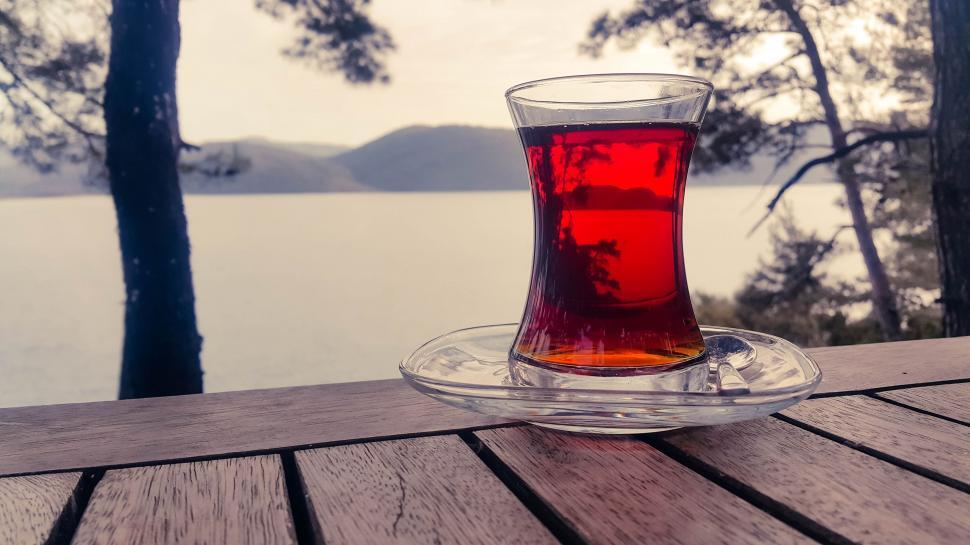 Download Free Stock HD Photo of Glass of Black Tea  Online