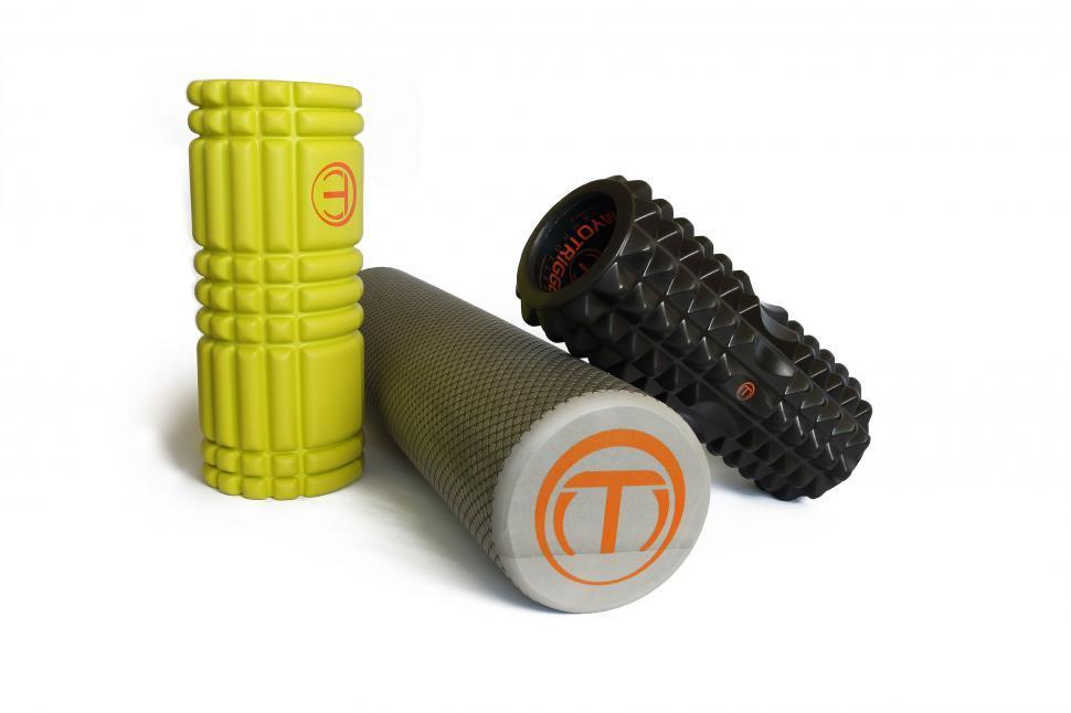 Download Free Stock HD Photo of Three MyoTrigger Foamrollers Online