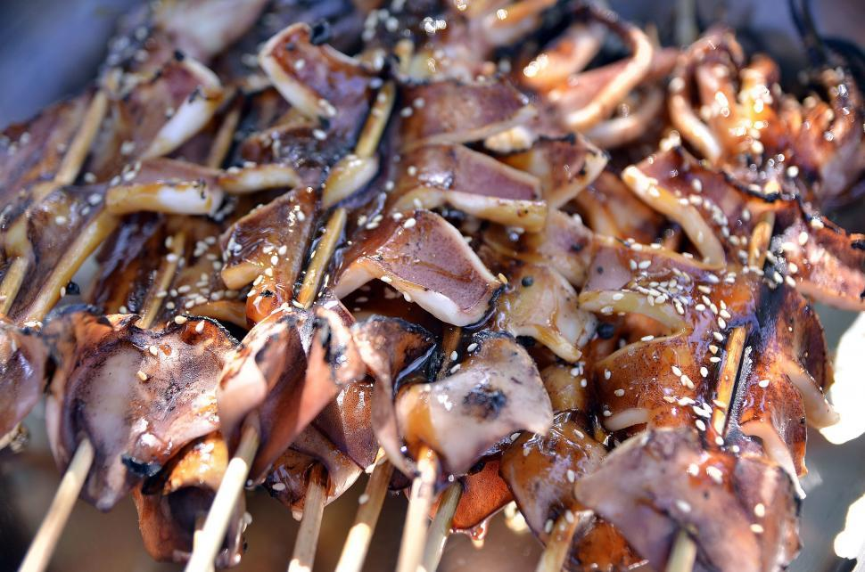Download Free Stock Photo of Meat on Sticks