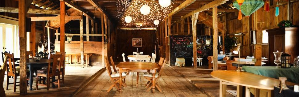 Download Free Stock Photo of Dining Room of Restaurant