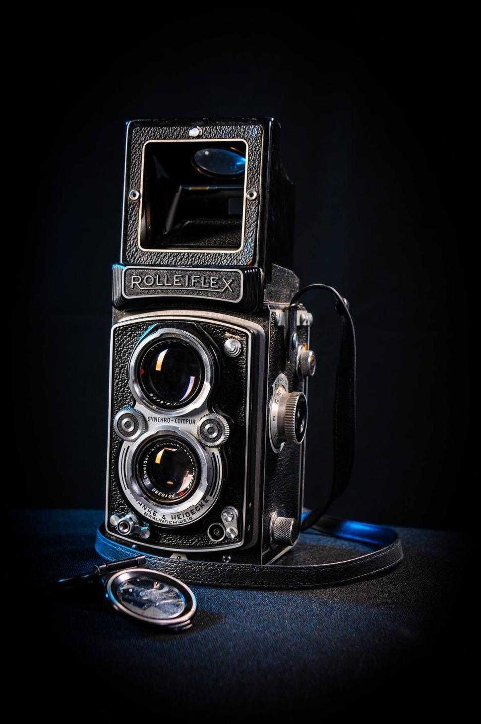 Download Free Stock HD Photo of Rolleiflex camera with range finder  Online