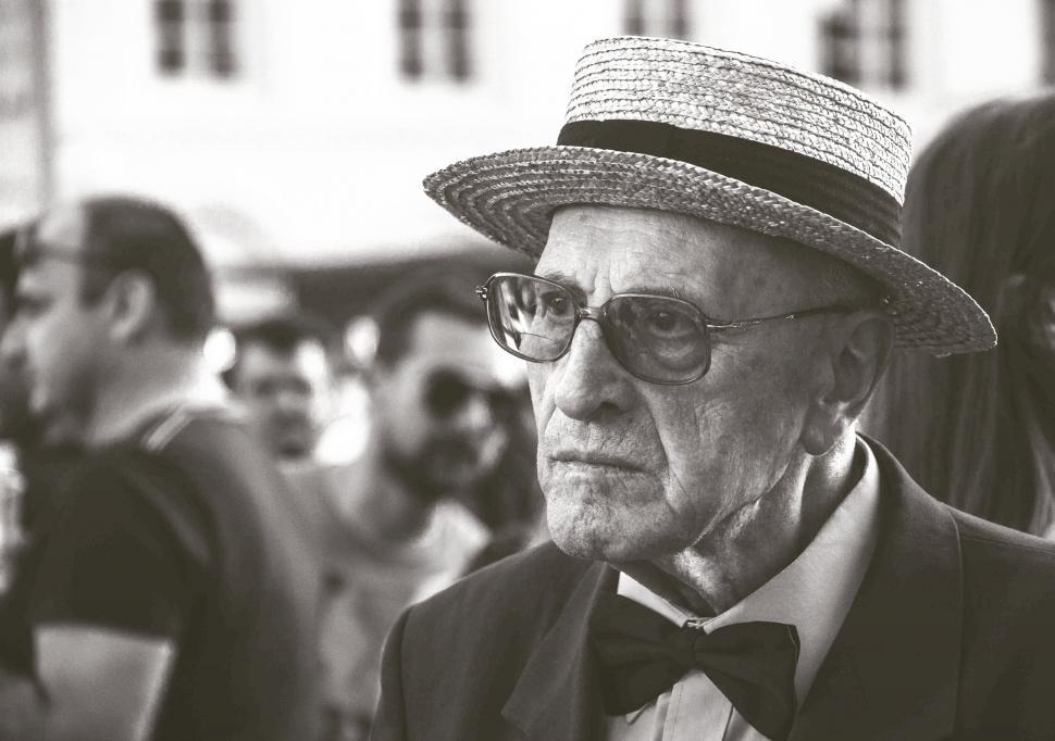 Download Free Stock HD Photo of Old Man in Sunglasses - Monochrome  Online