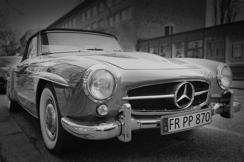 Download Free Stock HD Photo of Vintage Mercedes Benz  Online