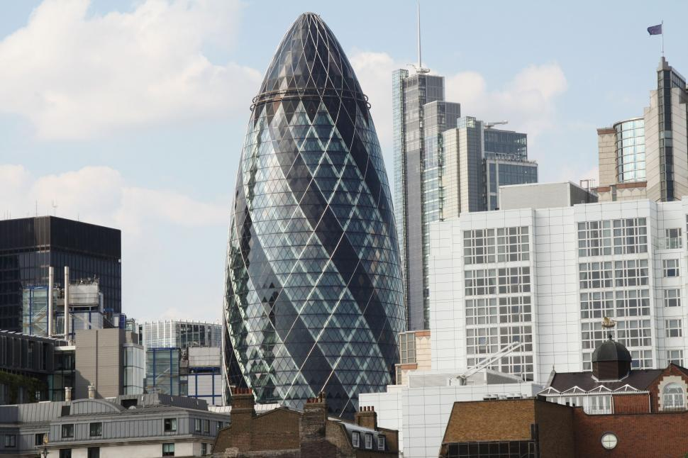 Download Free Stock Photo of 30 St Mary Axe in London