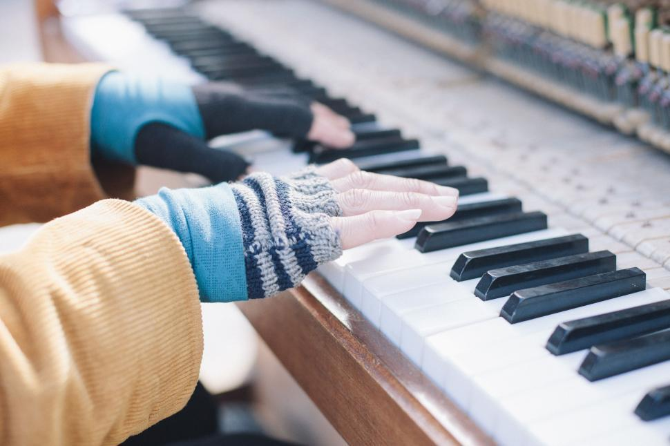 Download Free Stock Photo of Fingers on Piano