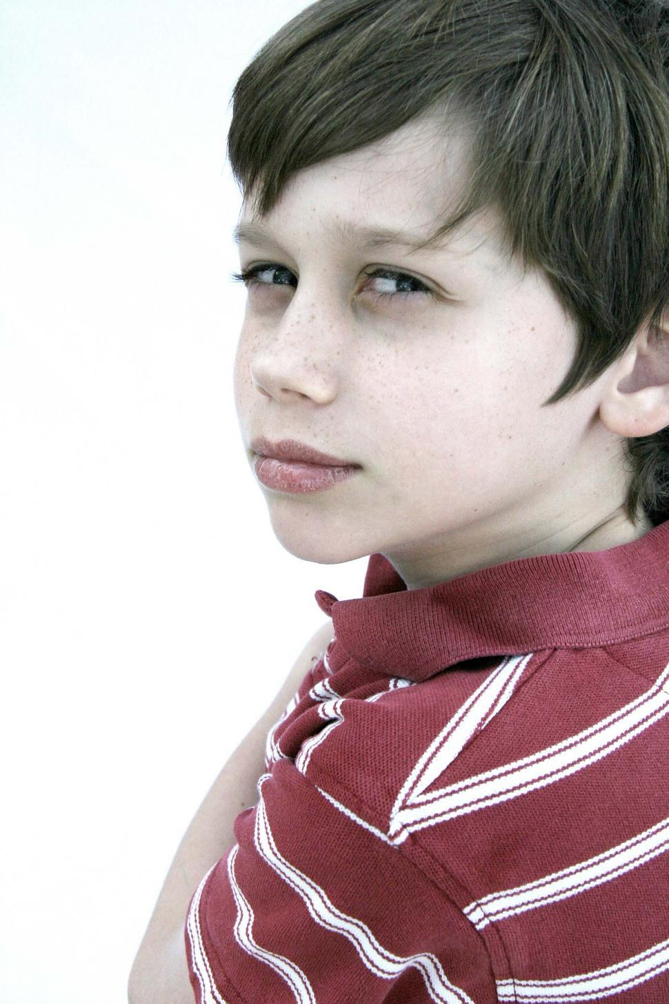 Download Free Stock Photo of Side eye from a little kid