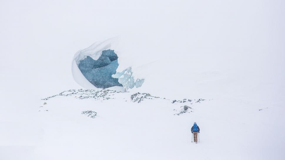 Download Free Stock Photo of Mountaineer on Snow Mountain