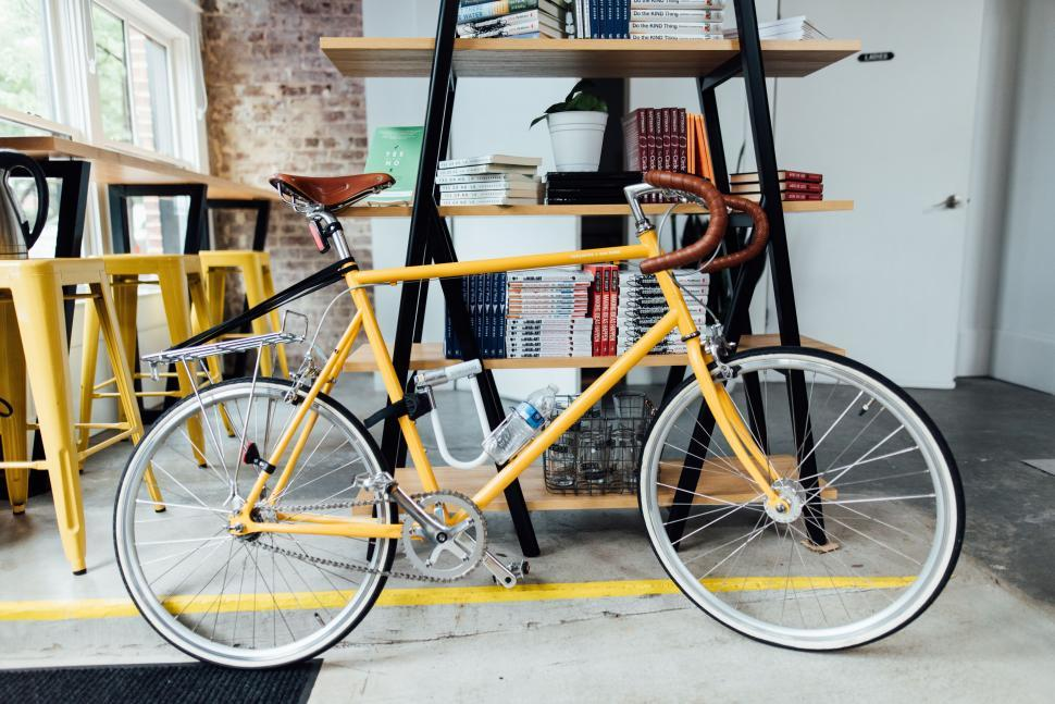 Download Free Stock Photo of Yellow Bicycle