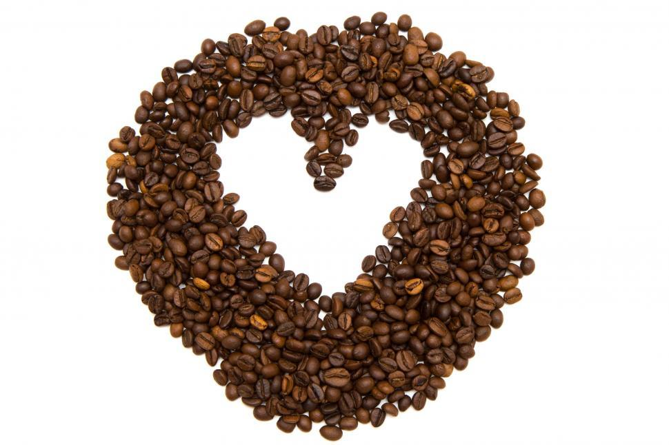 Download Free Stock HD Photo of Heart of Coffee Beans  Online