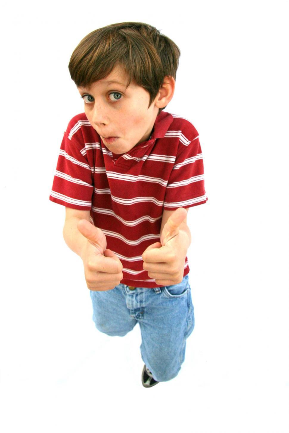Download Free Stock Photo of Thumbs up kid